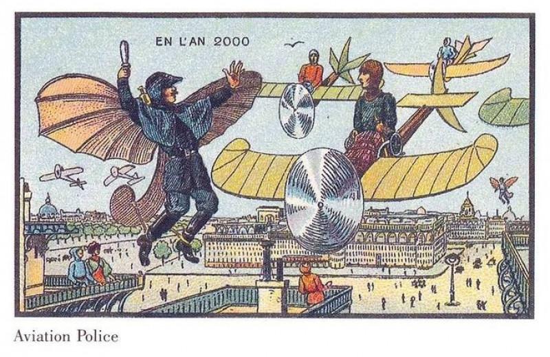Как люди изображали наше время сто лет назад