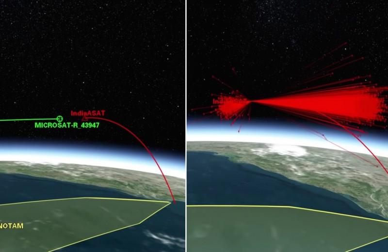 Обломки индийского спутника могут угрожать МКС