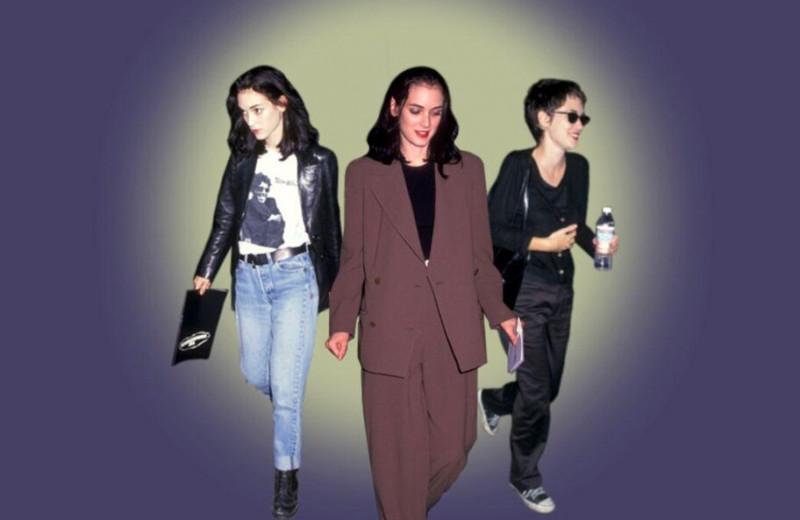 Как Вайнона Райдер одевалась в начале девяностых — и почему это отличный пример гендерно-нейтральной моды