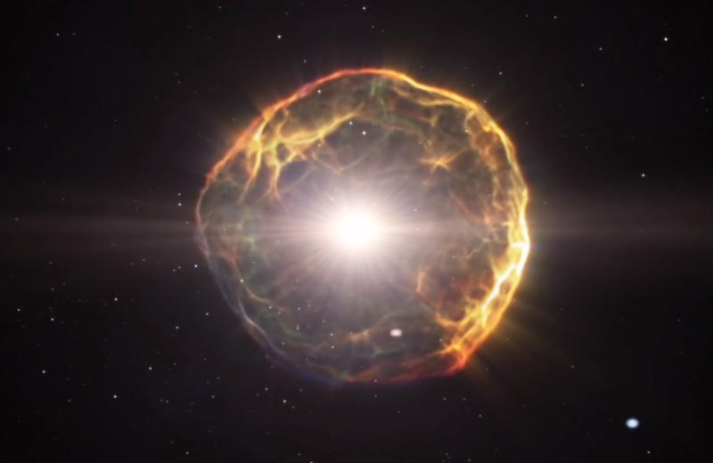 Как будет выглядеть взрыв Бетельгейзе с Земли: 4K-видео