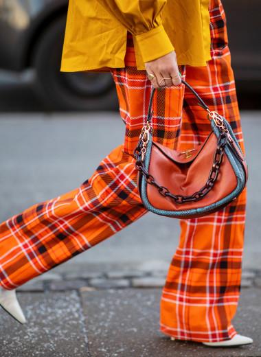 С чем носить штаны в клетку — 20 ярких образов от мировых модниц