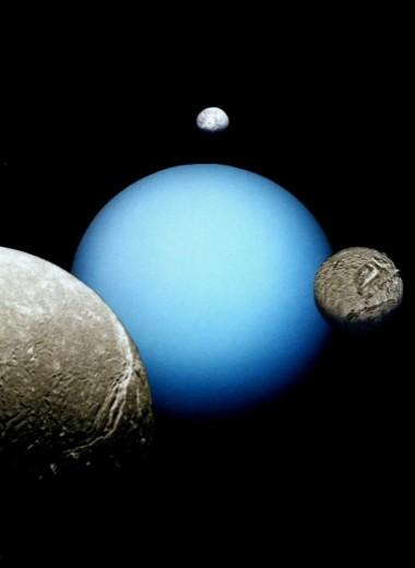 Крупные спутники Урана образовались вместе с изменением наклона оси вращения планеты