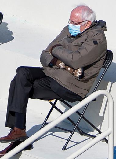 Золотые варежки: как сенатор Берни Сандерс посидел на стуле, стал мемом и сделал коллекцию одежды