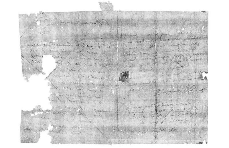 Ученым удалось прочитать запечатанное письмо, датируемое XVII веком