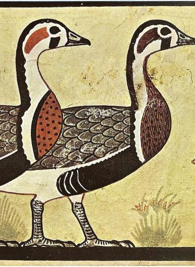 Новый вид гусей определили по росписи в древнеегипетской гробнице