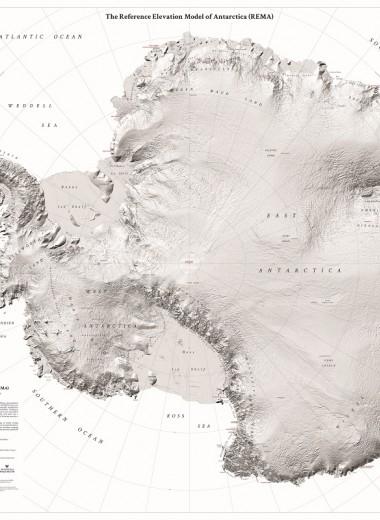 Создана подробнейшая карта Антарктиды