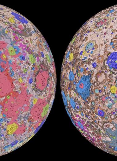 Создана самая полная геологическая карта Луны