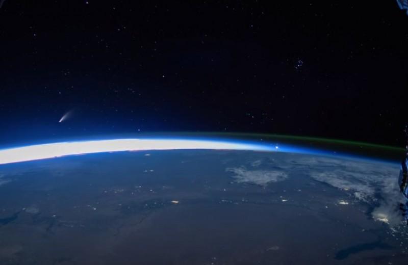 МКС сняла комету NEOWISE с орбиты Земли: завораживающее видео