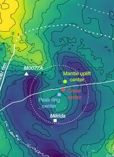 Моделирование помогло рассчитать угол падения «динозаврового» астероида