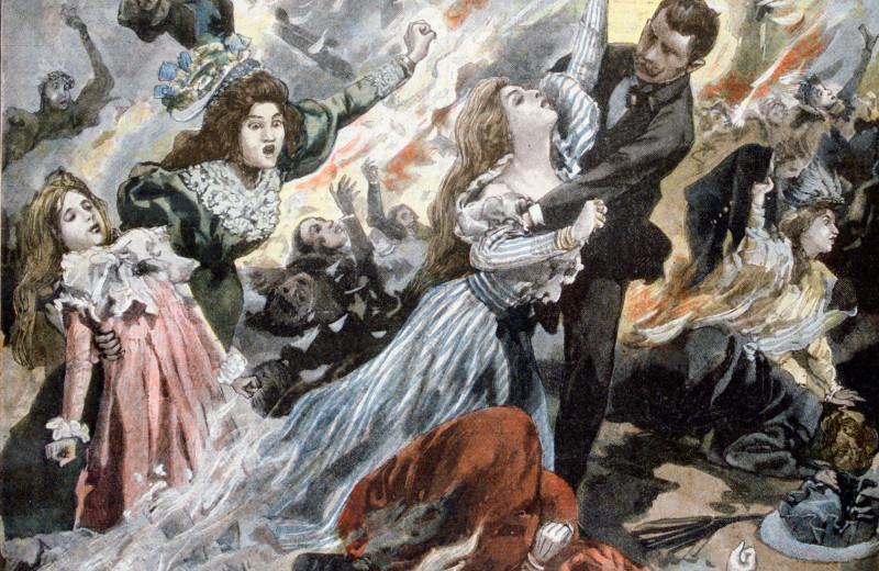 Мужчины толкали женщин в огонь: как на пожаре в Париже погибли 120 аристократок