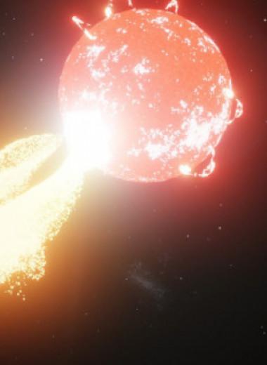Астрономы нашли солнечную радиовспышку у красного карлика