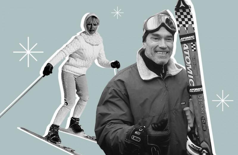Лыжный сезон: как Арнольд Шварценеггер, принцесса Диана и Шер проводили зимние каникулы