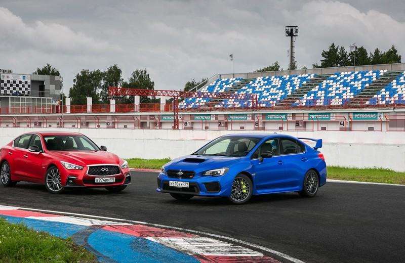 Из последних сил. Infiniti Q50s против Subaru WRX STi