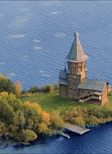 В Карелии сгорела деревянная церковь XVIII века