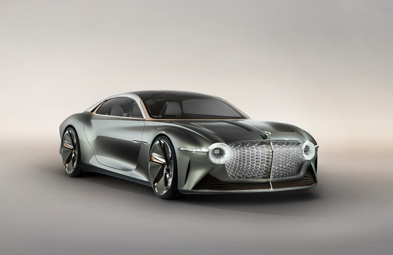 Спецэффекты и программы электрокара Bentley EXP 100 GT