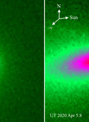 Комета ATLAS начала разваливаться при приближении к Солнцу