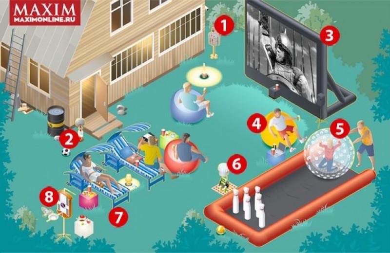 Надувной кинотеатр и еще 7 способов прокачать дачный участок