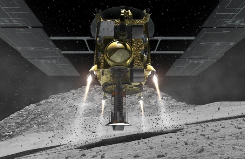 Как японская станция готовилась «расстрелять» астероид: видео