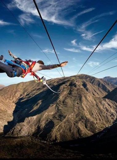 Невероятная «человеческая катапульта» создана в Новой Зеландии
