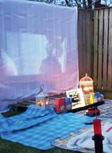 Кино под открытым небом: как организовать кинотеатр у себя на даче