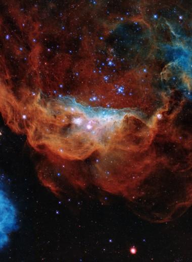 «Космический риф»: 30-летие «Хаббла» отпраздновали изумительным снимком двух туманностей
