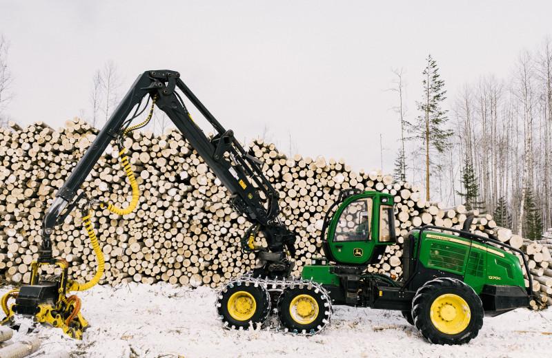 История лесозаготовки: от топора до харвестера