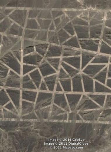 Загадочные знаки посреди пустыни Гоби, найденные в 2011 году