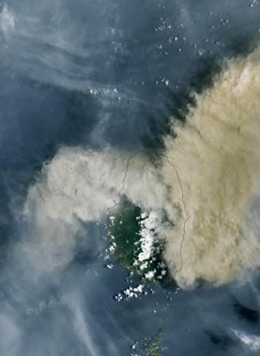 Извержение карибского вулкана: фото NASA