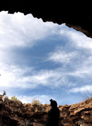 Лед в лавовых трубках помогал древним индейцам переносить засухи