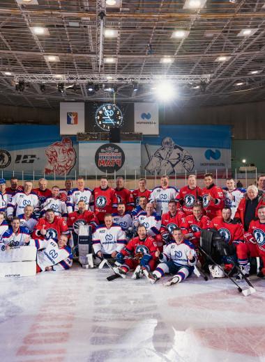 «Легенды хоккея» собрались на матче Ночной хоккейной лиги в Норильске