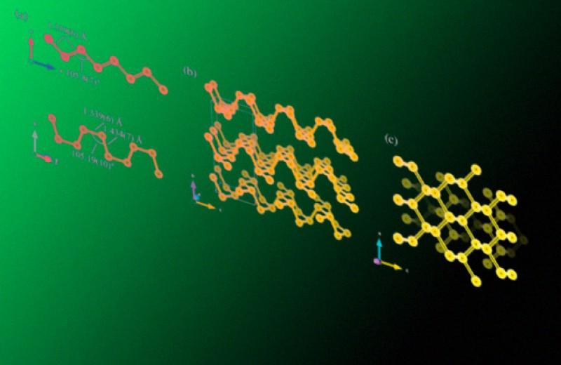 Азоту придали кристаллическую структуру черного фосфора