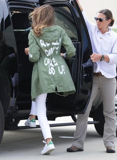 Мелания Трамп надела куртку с надписью «Мне все равно». Разразился скандал