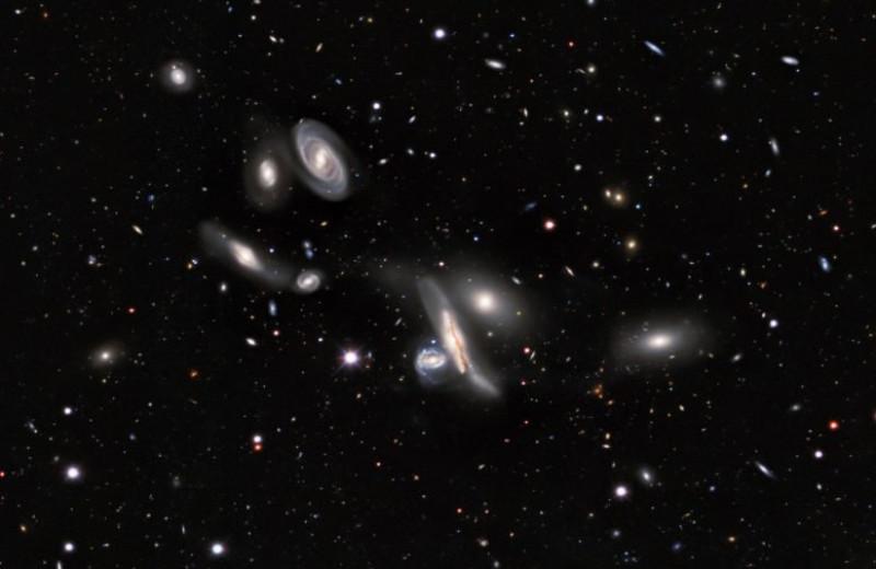 На новую карту неба нанесли более миллиарда галактик