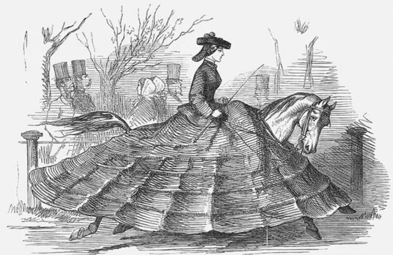 Юбку дома забыла! Как и за какие наряды высмеивали москвичек XIX века