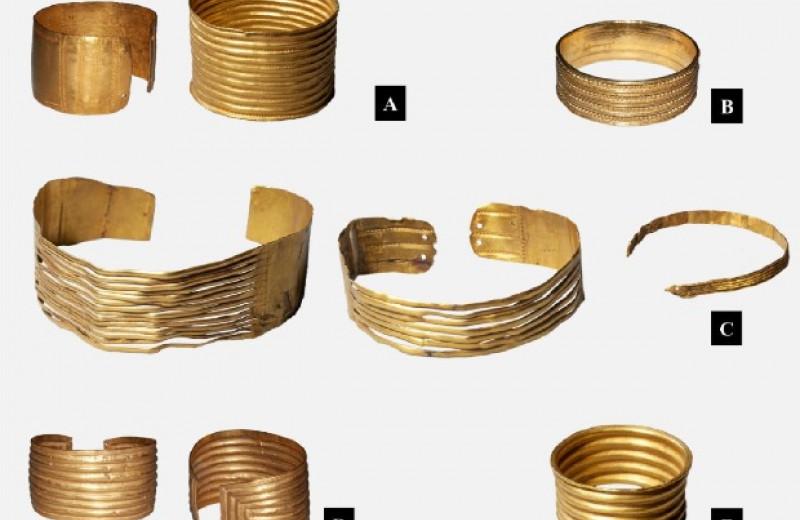 Золотые украшения эпохи бронзы из Галисии изготовили для погребального ритуала