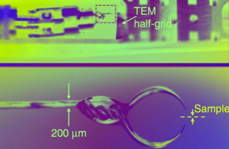 Лист графена почистили вольфрамовой наношваброй