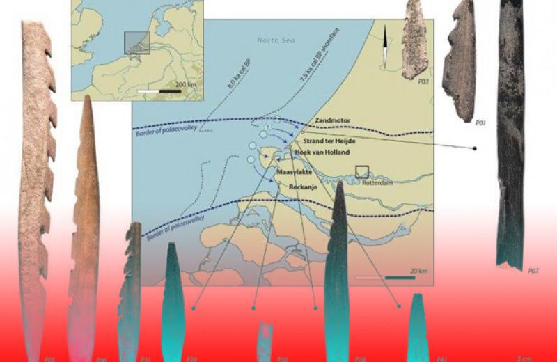 Мезолитические люди сделали зазубренные наконечники из человеческих костей