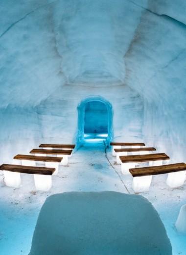 Чудо во льдах. Завораживающая пещера внутри ледника Лангйокуль