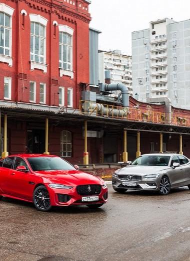 Тест-драйв Audi A4, Jaguar XE и Volvo S60. Благородное собрание