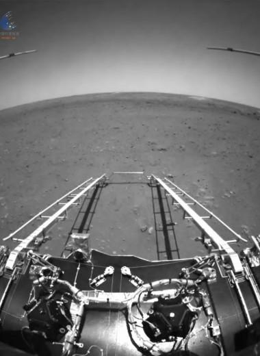 Китайский ровер прислал видео с Марса со звуком