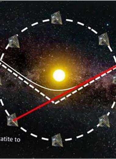 Инженер предложил подстеречь межзвездный астероид группой кубсатов с солнечным парусом