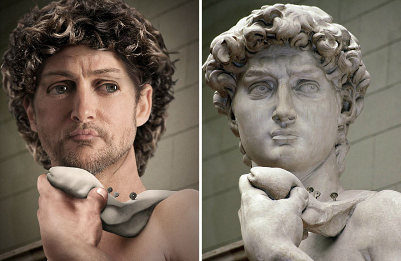 Как выглядели бы в реальной жизни знаменитые статуи