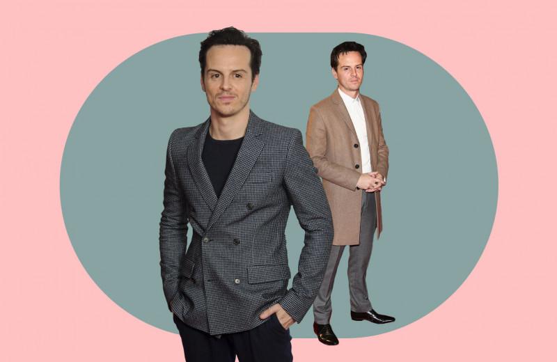 Монохром, клетчатые пиджаки и цветные носки: как Эндрю Скотт одевается на выход