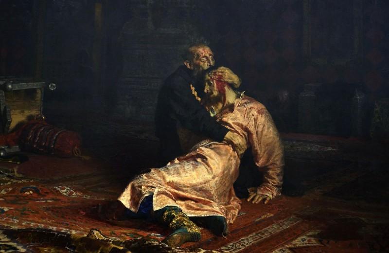 Посетитель повредил картину Репина в Третьяковской галерее
