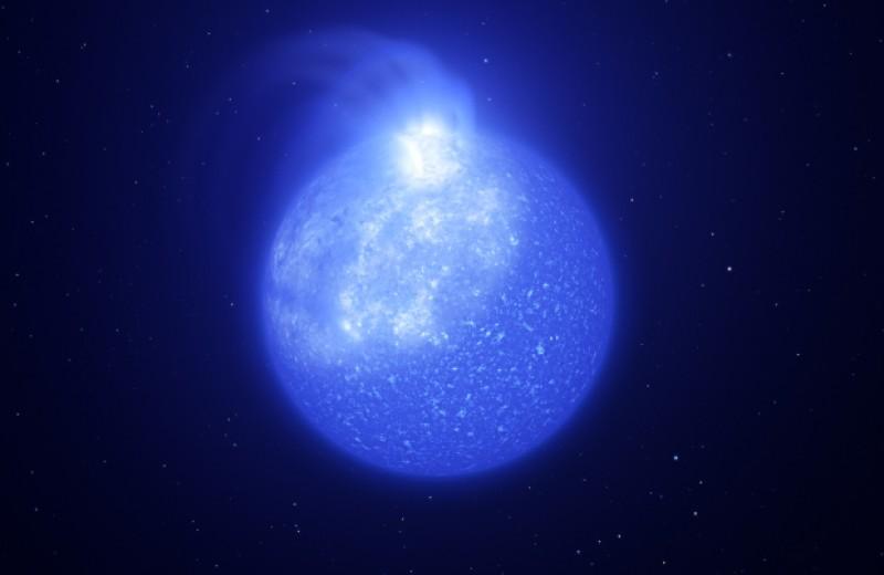 Астрономы нашли гигантские магнитные пятна на маленьких горячих звездах