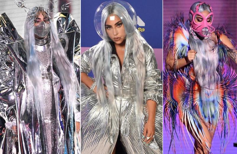 Королева перевоплощения: Леди Гага примерила шесть ярких образов за один вечер