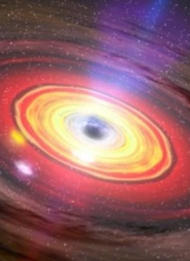 Черная дыра извергает потоки вещества со сверхсветовой скоростью