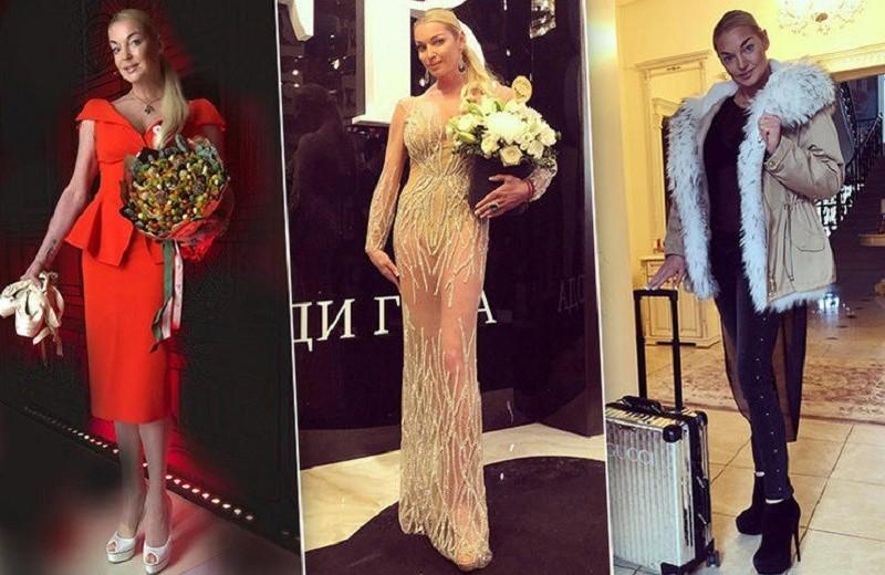 «Голые платья» и другие наряды Анастасии Волочковой в уходящем году