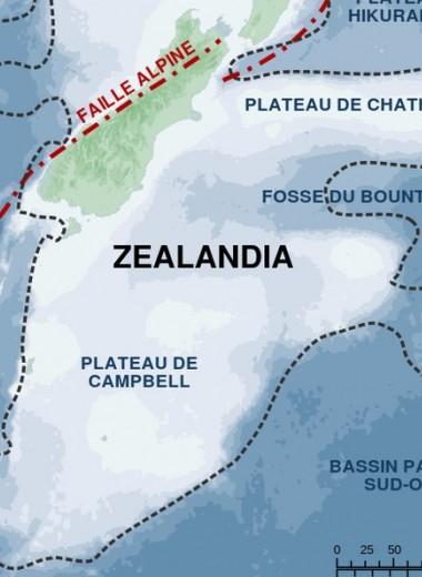 Новые карты раскрыли детали давно утонувшего континента Зеландия