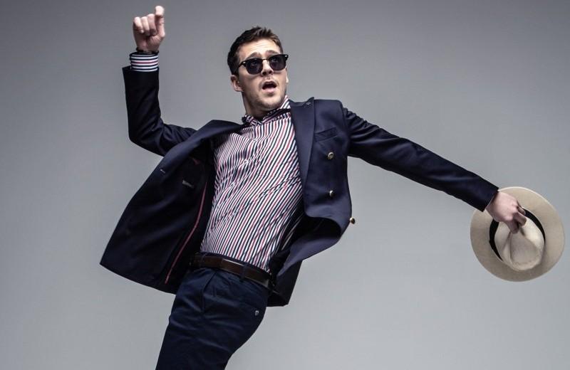Милош Бикович примеряет вещи Henderson и уходит из актеров в продюсеры